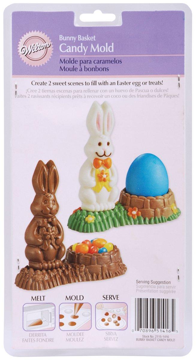 Wilton - Molde para figuras de chocolate, diseño de conejo y huevo de Pascua, transparente: Amazon.es: Hogar