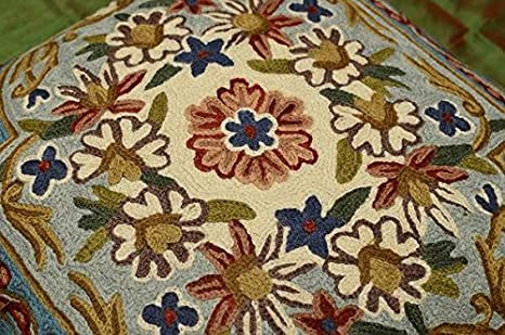 Amazon.com: Jardín Floral turquesa marfil funda de almohada ...