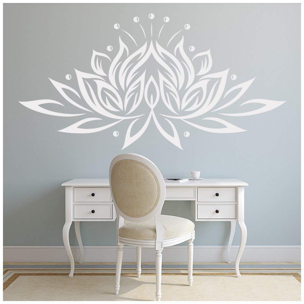 Azutura Lotus Blaume Wandtattoo Blaumen Wand Sticker Buddhismus Wohnkultur verfügbar in 5 Größen und 25 Farben Mittel Weiß B00DODPZBO Wandtattoos & Wandbilder