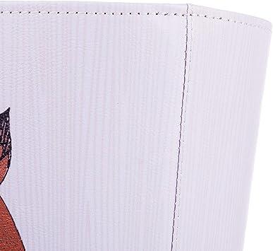 Pattumiera in Pelle 10L Impermeabile per Bambini K9CK Cestino Carta Ufficio 25 x 20 x 27cm Spazzatura Differenziata
