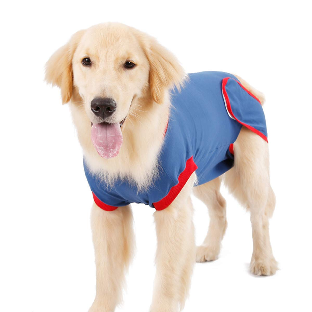 Bite Petyoung Pet Dog Recovery Suit Cat Abdominal Wound Protector Pet Cotton Recovery Suit After Surgery Wear for Prevent Licking