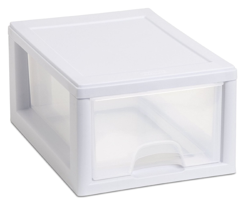 18 Pack Storage Bins & Baskets Sterilite 20518006 Stackable Small Drawer White Frame & See-Through Home & Garden