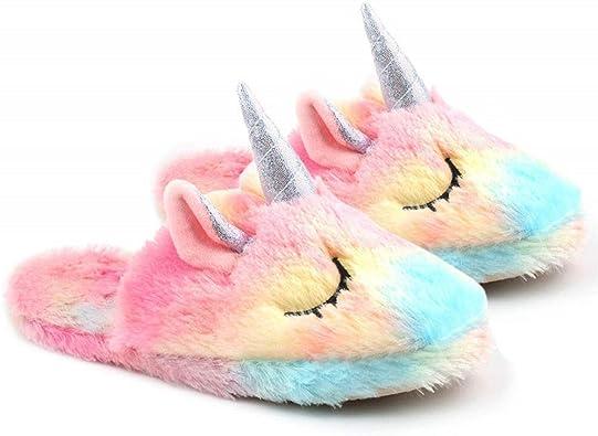 Unicorn Slippers for Girls Women Cute