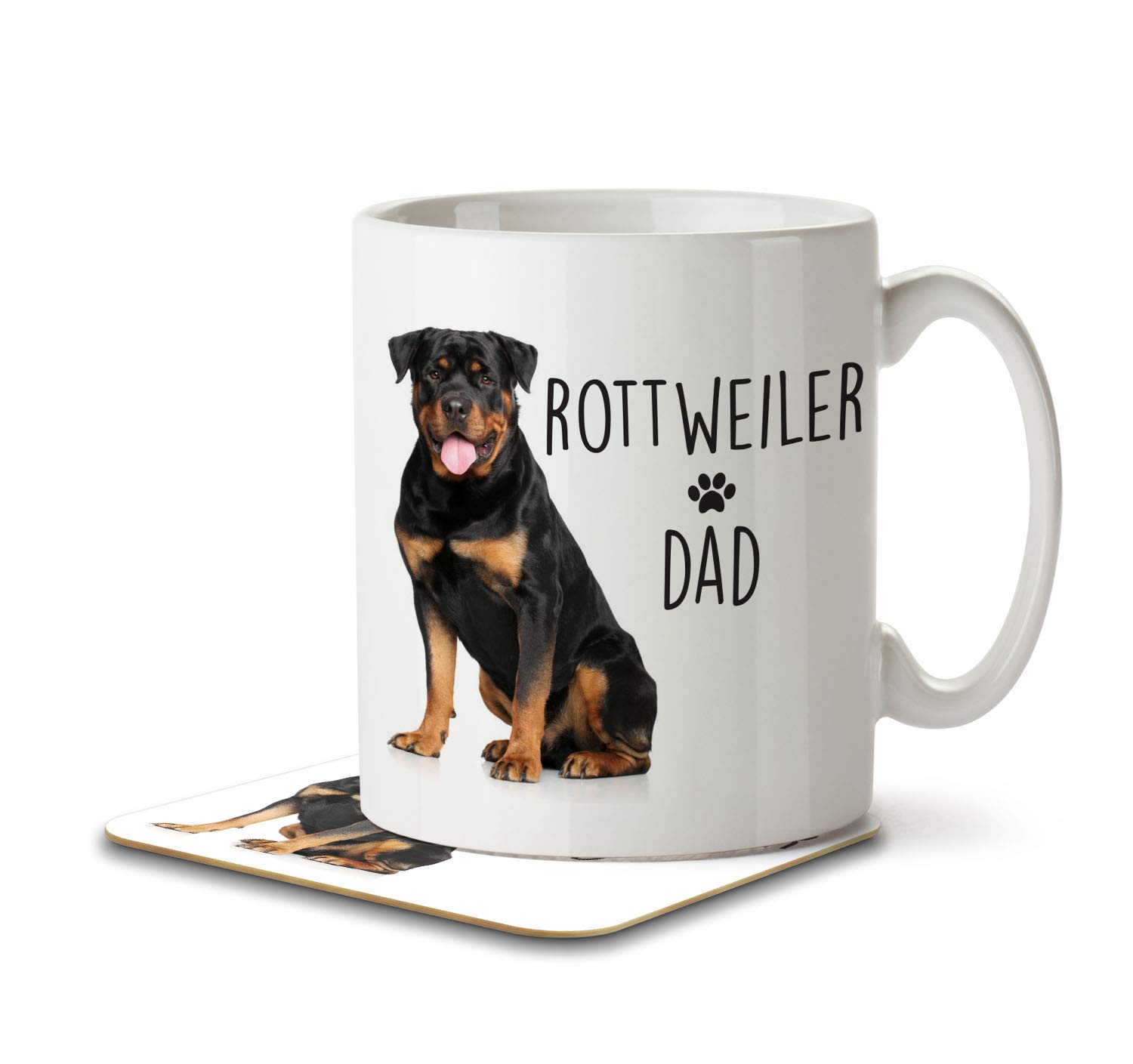 Mug and Coaster by Inky Penguin Labradoodle Dad
