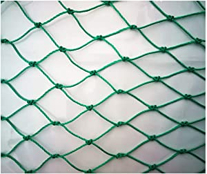 Wlh Protective Net, Farm Animal Cat Poultry Bird Cage Net Plant Tomato Pond Protection Net Fishing Net Fence Safety Net (Specification: 6 Strands, 1cm Hole) (Color: Green) (Size : 11m)