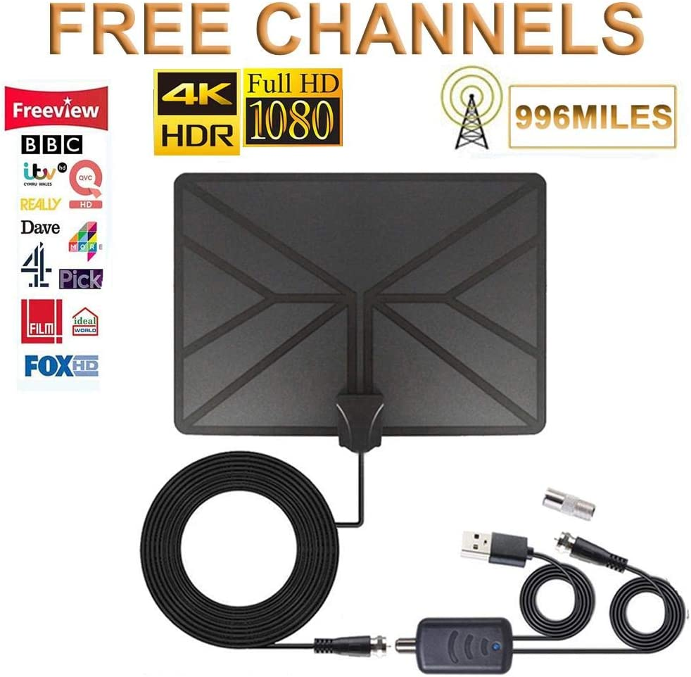 LFJNET Crystal Clear Digital Indoor Antenna Full HD TV Channels Signal Amplifier HDTV Antenna Satellite Signal Receiver