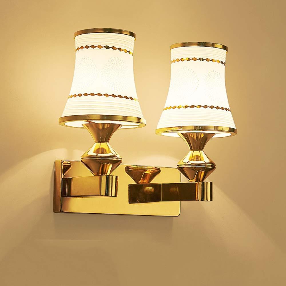 Viraaty 3W   5W   9W LED warmes weißes Licht Glaswand hängende Wandlampe eleganter Stil einfache moderne Wandleuchte energiesparende Innenbettbettlampe für Kinder leicht zu säubern Treppenlicht Wo