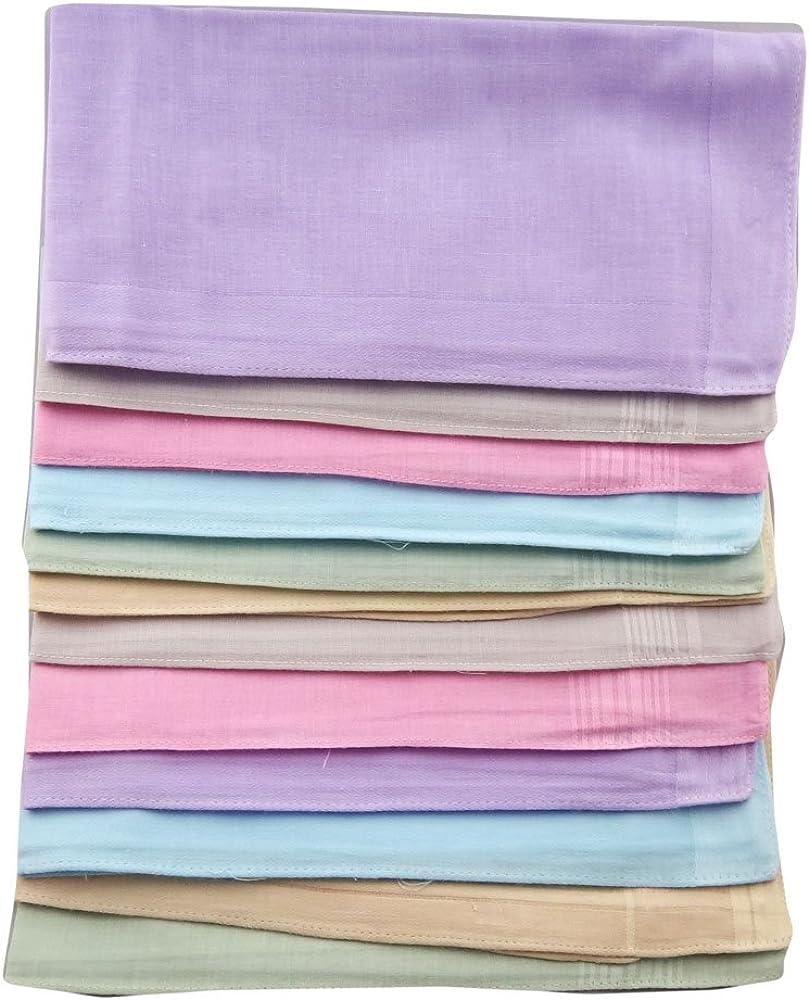 Pañuelos para hombre, 12 unidades y cierres de colores variados de ...