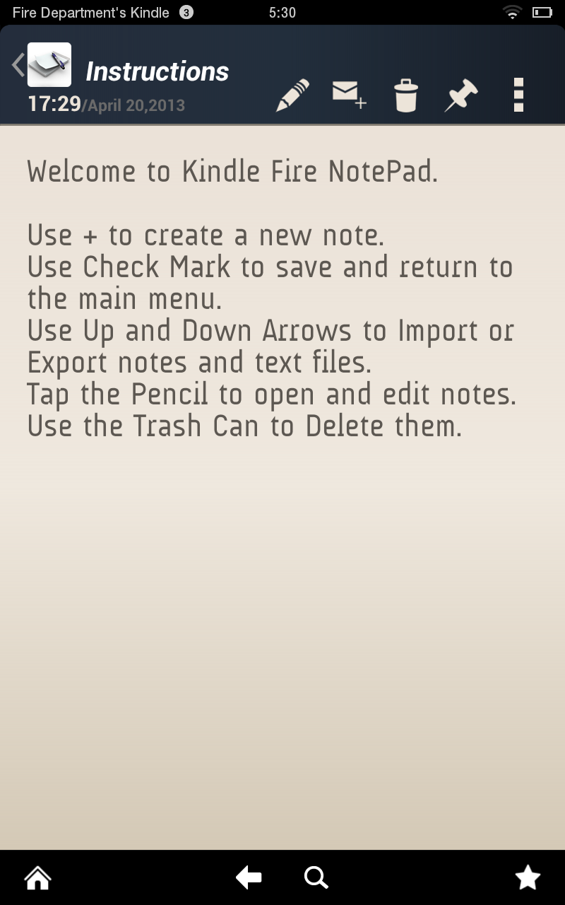 Amazon.com: Notepad for Kindle Fire: Appstore for Android | 800 x 1280 png 98kB