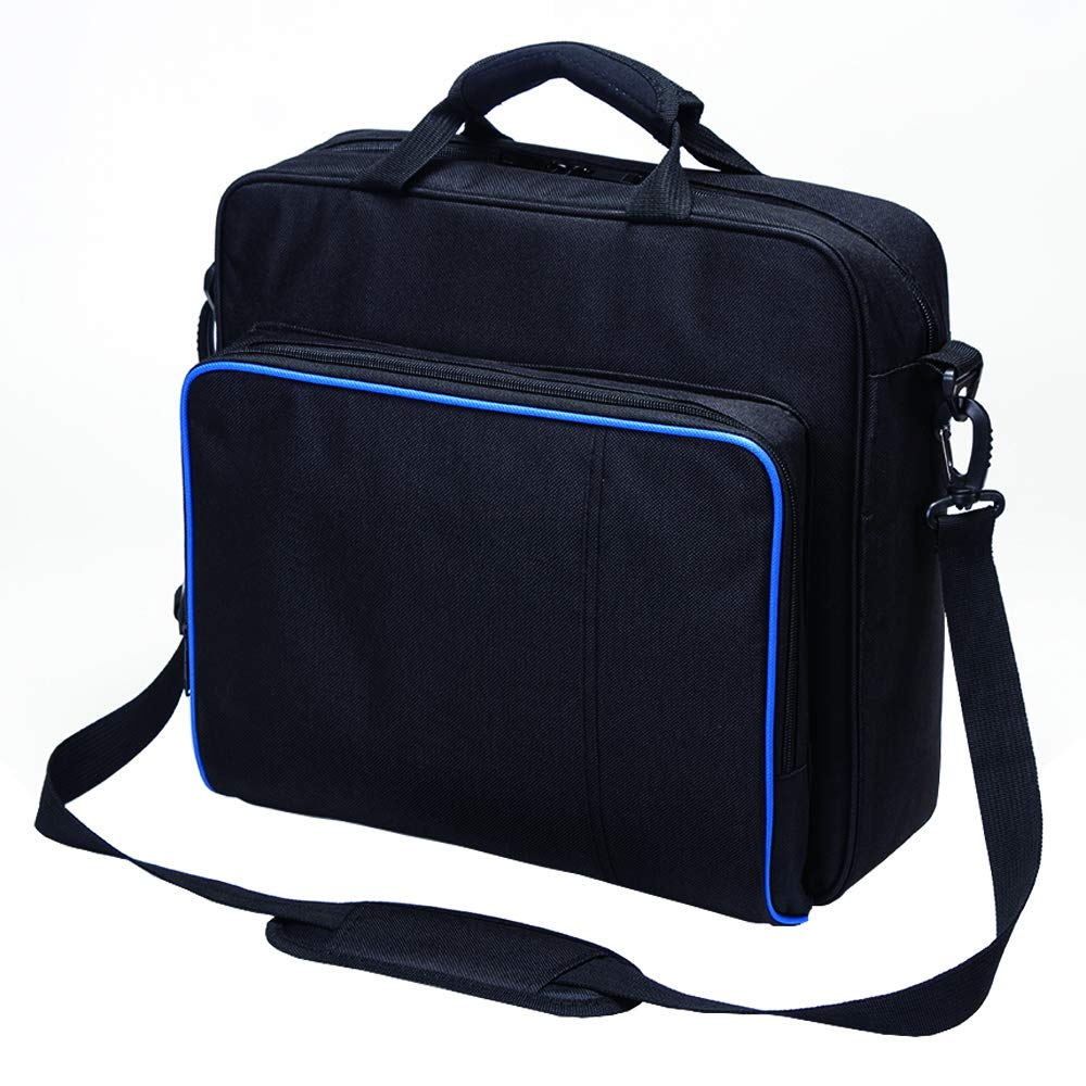 New Travel Storage Carry Case Protective Shoulder Bag Handbag for Playstation PS4, PS4 Pro and PS4 Slim System Console Carrying Bag and Accessories #81050 (Black-Large) by Beststar (Image #3)