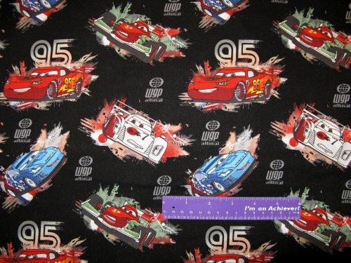 "43"" Wide Disney CARS Race World Cotton Fabric BY THE, used for sale  Delivered anywhere in USA"