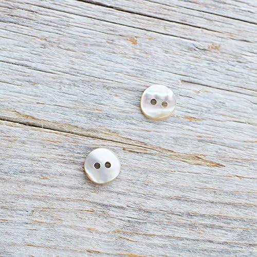 【丸型(定番)】アワビ貝ボタン#00104 2穴10mm 2個セット