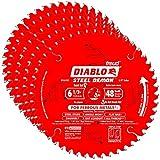 Freud D0648F Diablo 6-1/2-inch 48T Demon Ferrous Circular Saw Blades, 5-Pack