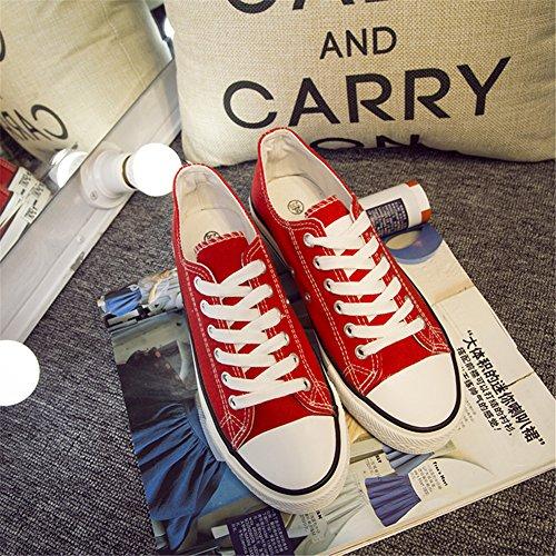 Minivog Kvinna Duk Mode Sneaker Röd