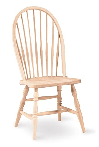 International Concepts Tall Windsor Side Chair, Unfinished