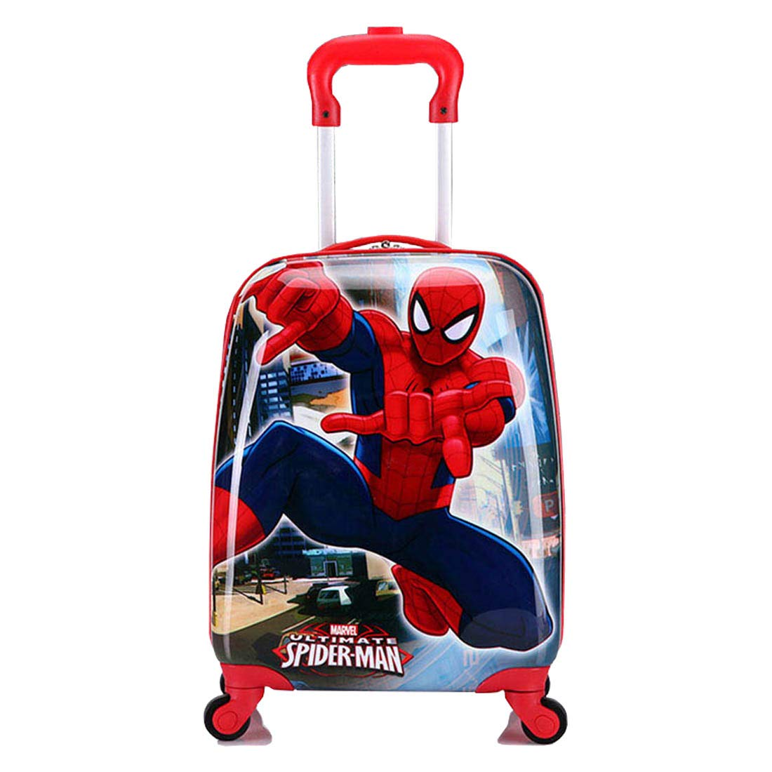 MOREFUN Spiderman Luggage 18 Inch Carry on Kids Luggage Hard Side Spinner Suitcase Lightweight Wheels