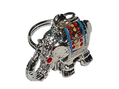 uniquen Lucky elefante cristal bisutería Rhinestone colorido ...