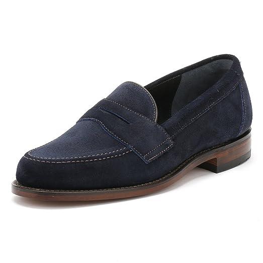 Loake Men's Saddle Suede Eton Loafers Navy