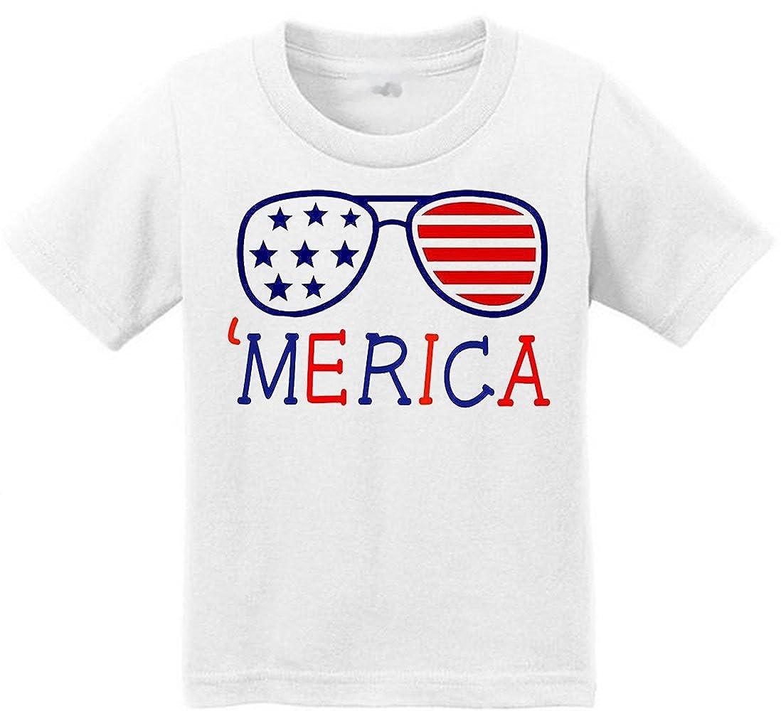 Anicelook /® Merica Toddler Funny Birthday Unisex T-Shirt
