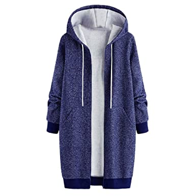 d4be9d3d340694 Damen Mantel mit Kapuze Warmer Wintermantel Winter Jacke mantel Winterjacke  Mantel mit Kapuze hooded jacket damen Fleecejacke Windjacke Mantel Herbst  Winter ...