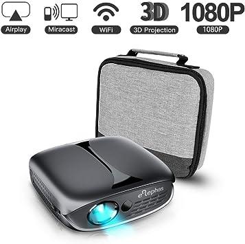 Mini proyector 3D, proyector de vídeo Elephas 100 ANSI Lumen WiFi ...