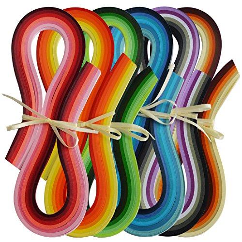 QUILLING - FILIGRANA 36 colores x 20 tiras 7mm x 54cm Juya