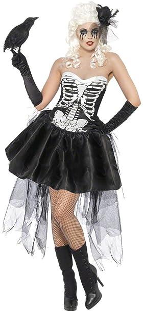 Disfraz De Esqueleto Macabro Para Mujer M Amazon Es Juguetes Y Juegos
