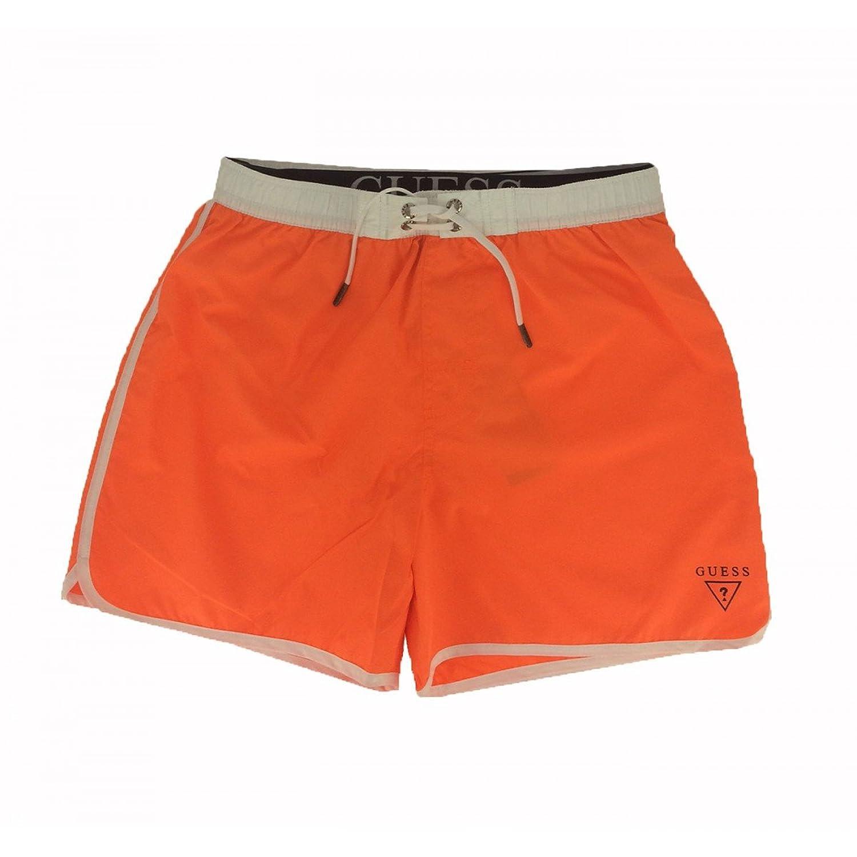 Guess Men's Swimming Shorts Orange Mid Man
