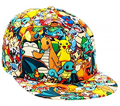 POKEMON All-Over Character Print Snapback Baseball CAP/ HAT