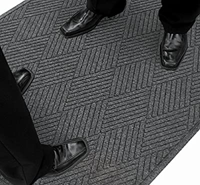 Guardian EcoGuard Diamond w/Fan Indoor Wiper Floor Mat, Recycled Plactic and Rubber