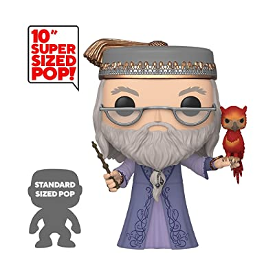 """Funko Pop! Harry Potter: Harry Potter- 10"""" Dumbledore with Fawkes, Multicolor, Model:48038: Toys & Games"""
