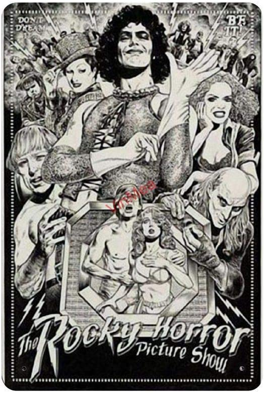 """Retro Vintage Metal Sign The Rocky Horror Picture Show All Characters Reproduction Metal Tin Sign Wall Decor for Cafe Bar Pub Home 8"""" X 12"""""""