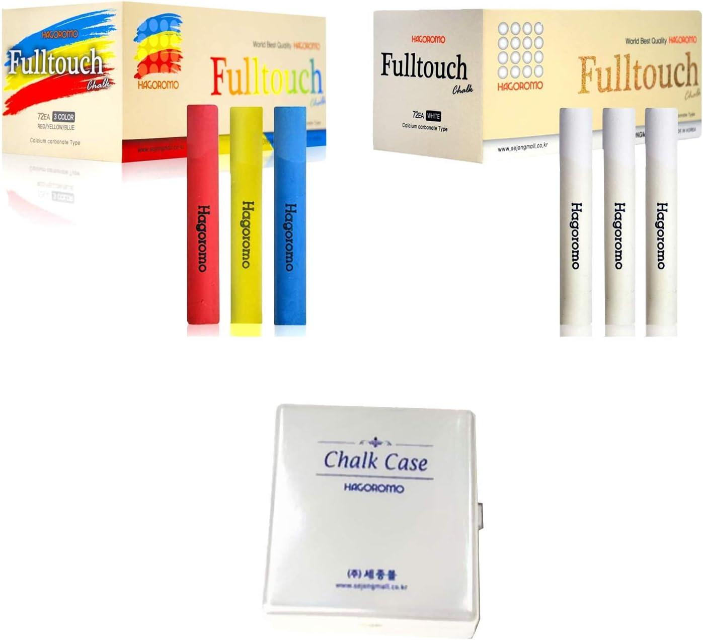 12 Pcs//10 Color Mix + HAGOROMO Fulltouch Color Chalk 1 Box 72 Pcs//White Bundle: HAGOROMO Fulltouch Color Chalk 1 Box