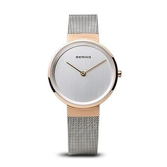 BERING Reloj Analogico para Mujer de Cuarzo con Correa en Acero Inoxidable 14531-060: Amazon.es: Relojes