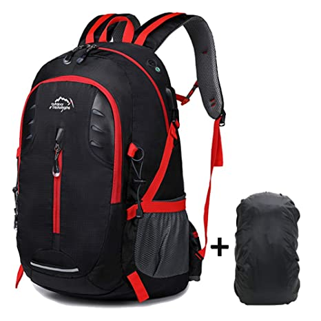 f77f987b985f Meisohua Outdoor Hiking Backpack 30L Lightweight Hiking Daypack Travel  Backpack with Waterproof Rain Cover for Traveling Climbing Camping ...