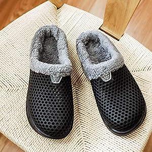 Cooga Women's House Slippers Sticking Lining Warm Fleece Clogs