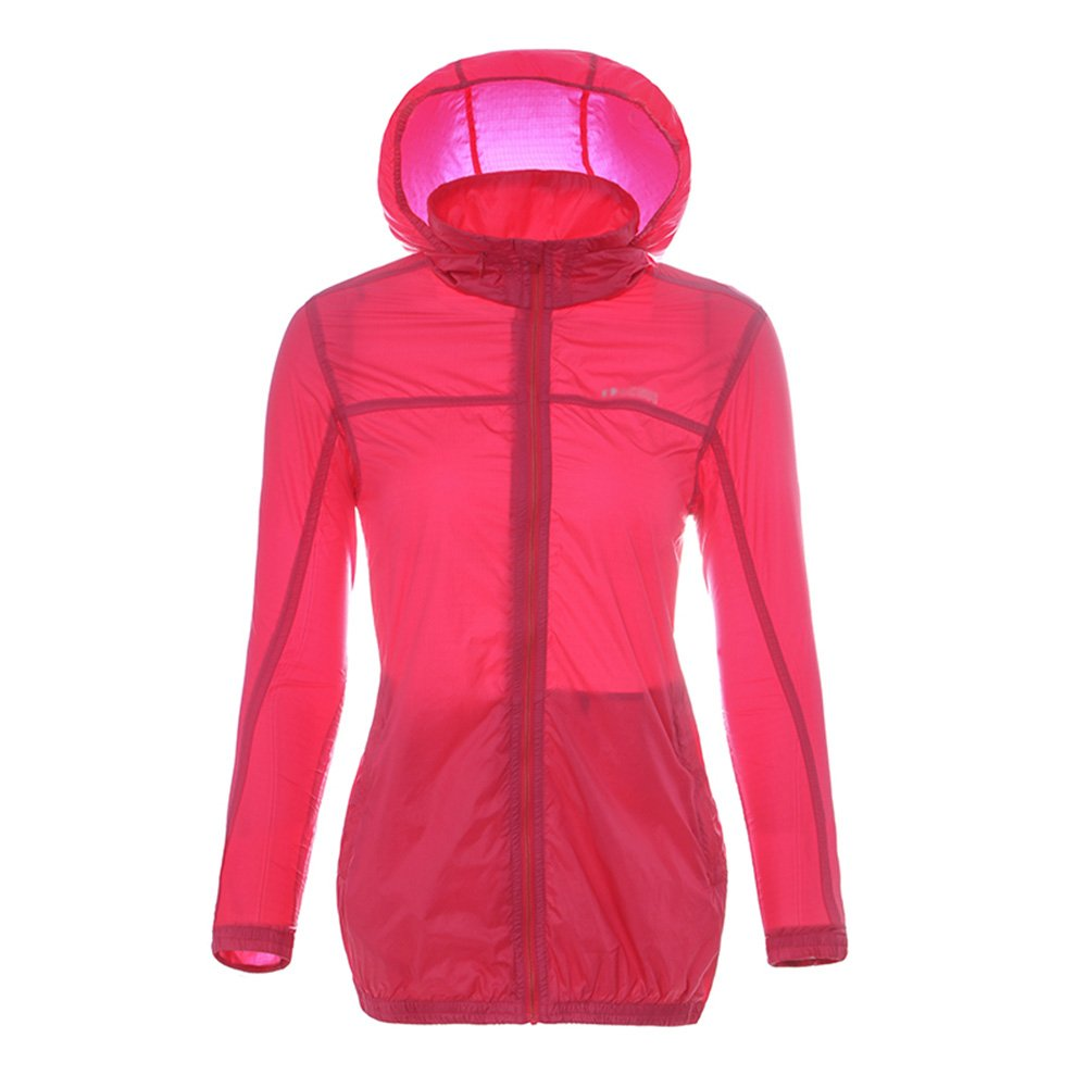 ZEMIN ポンチョ レインウェア スリッカー レインコート ポンチョ ウインドブレーカー 防水 カバー 女性 薄いです 日焼け止め ポリエステル、 3色、 5サイズあり (色 : Pink, サイズ さいず : XXL) B07CRCX555 Pink XXL