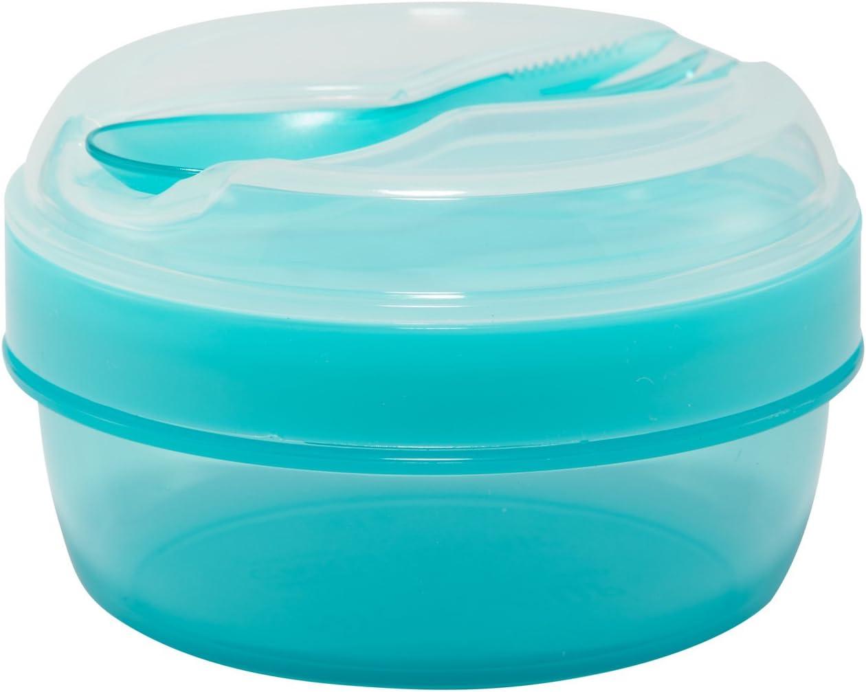 Carl Oscar Nice Cup - Fiambrera pequeña para aperitivos con acumulador de frío, mantiene varias horas frescas, incluye cubiertos, color turquesa