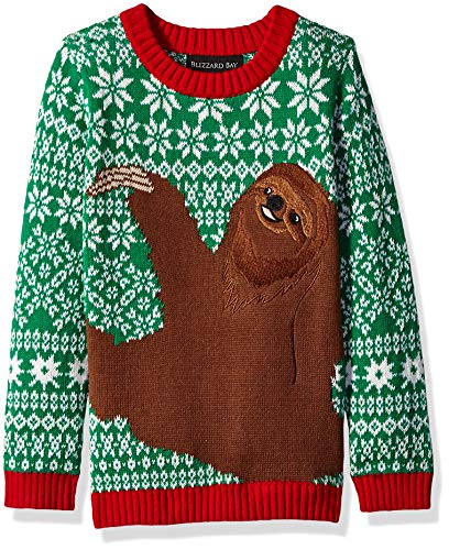 Boys' Big Ugly Christmas Sloth Hug Pullover Sweater