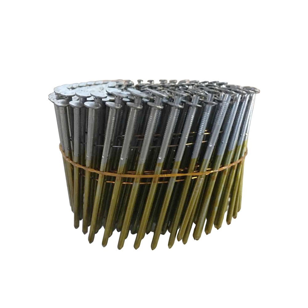 meite CNS3 15 Degree Full Round-Head 3'' × 0.120'' Wire Coil Smooth Shank Coil Siding Nails 4050 PCS/CASE by meite (Image #1)