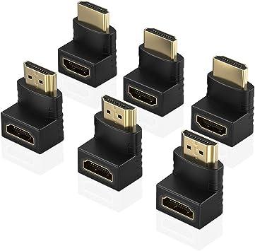 tv hd mâle femelle l/'angle de 90 degrés à droite connecteur de câble branchez