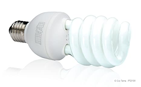 Terrario repti glo uvb 2.0 lampada 25 watt: amazon.it: prodotti