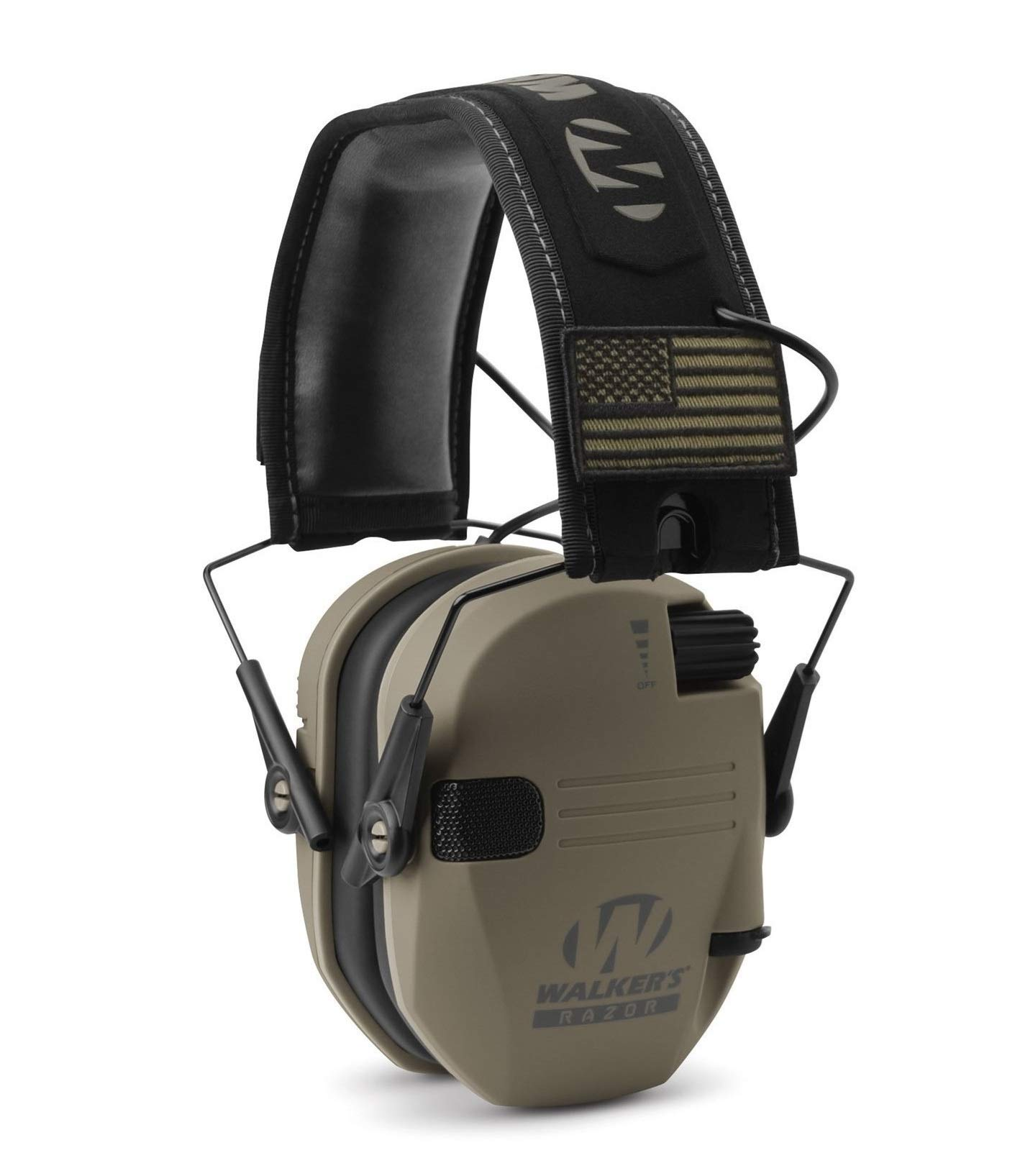 Walkers Razor Slim Electronic Shooting Hearing Protection Muff (Sound Amplification and Suppression) with Protective Case, FDE Patriot by Walkers (Image #3)