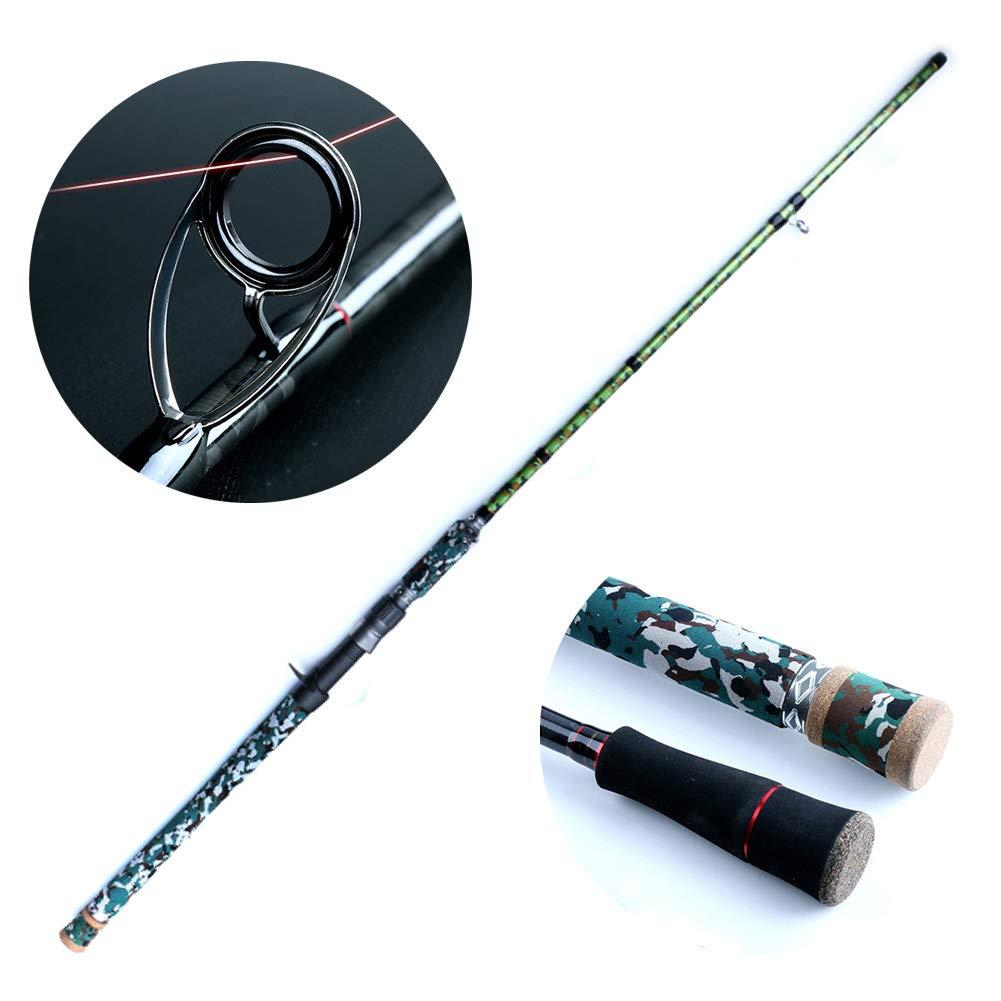 黒魚のためのXH調性釣り、ポータブル釣り竿コンボ高密度カーボンウルトラライト草地用 2.28M BGun B07QK9CNQ5