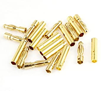10 Pairs Male Female Connector 4.0mm 4mm Gold Banana Plug ESC for RC Motor