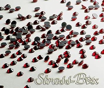 Strass Hotfix DMC Siam, rojo, SS16 pieza número a elegir brillantes parches termoadhesivos, 500