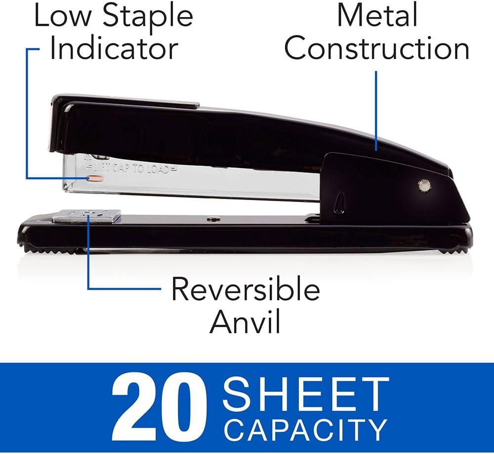 44401 Commercial Desk Stapler Swingline Stapler Black 20 Sheet Capacity