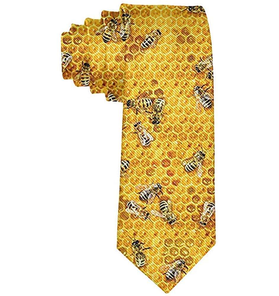 Corbata de hombre Abejas con peines de miel Corbata de seda de ...