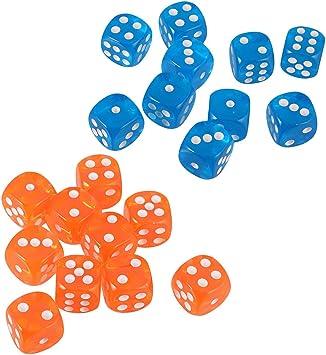 B Blesiya 20x Dados de 6 Lados de Acrílico Accesorios para Juegos de Mesa de Tablero: Amazon.es: Juguetes y juegos