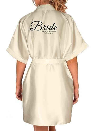 Inspired Creative Design Personalised Satin Kimono Robe. Bride ... 8296d84dd